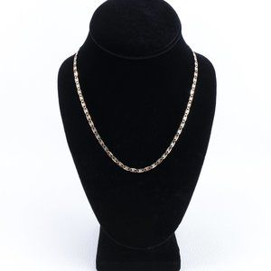 "Jewelry - 10k Tri-Color Gold Gucci Link Chain 18"""